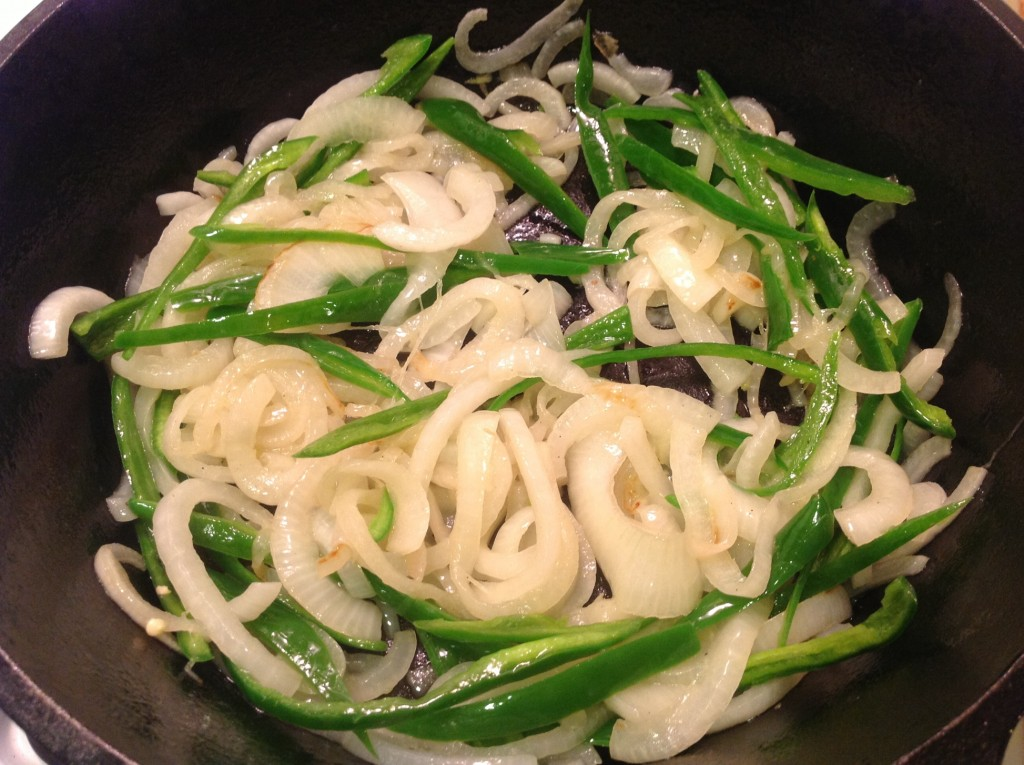 Sautéing Onions and Jalapeno Peppers