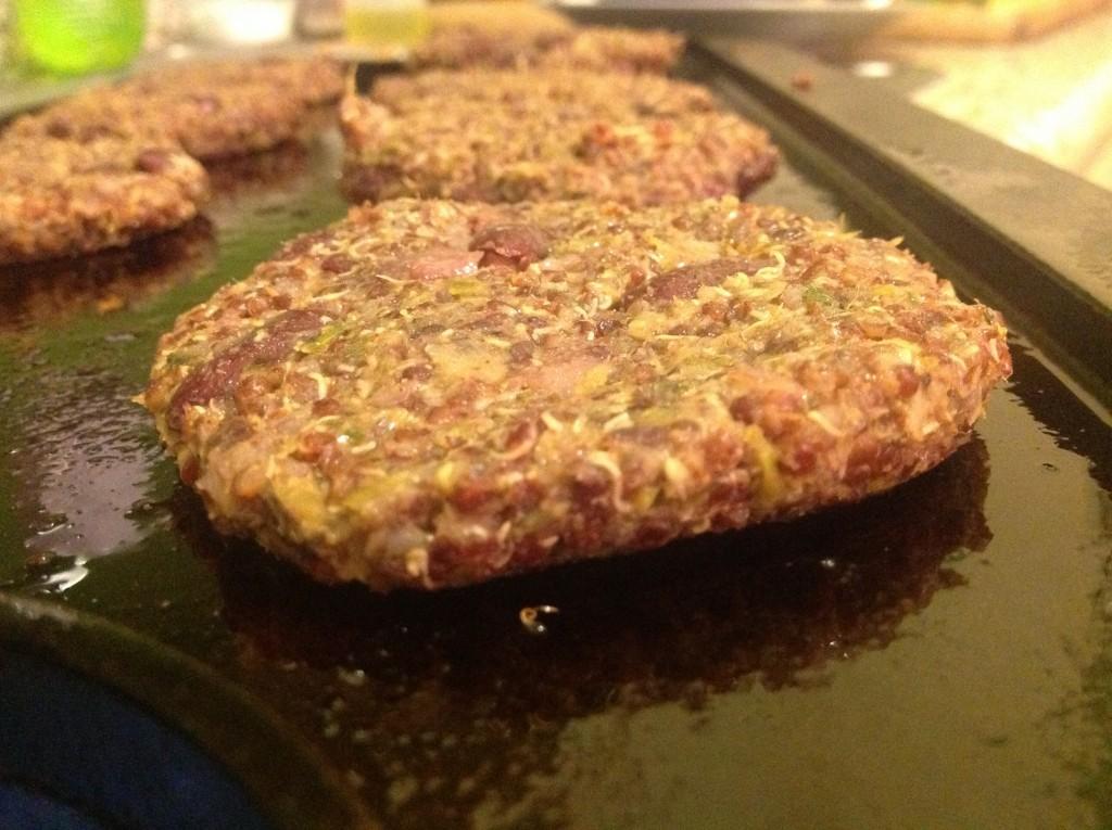 Red Bean Red Quinoa Burgers Pre-Bake
