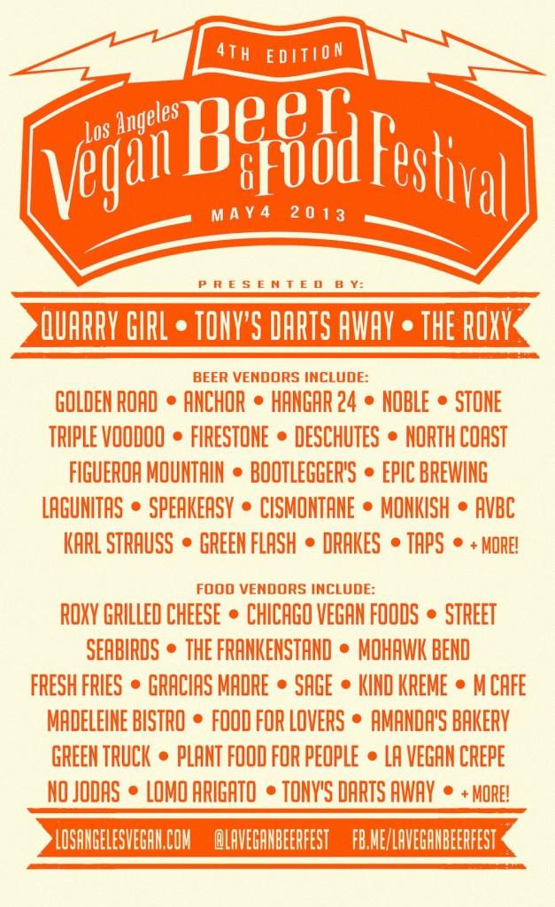 Vegan Food & Beer Fest Flyer
