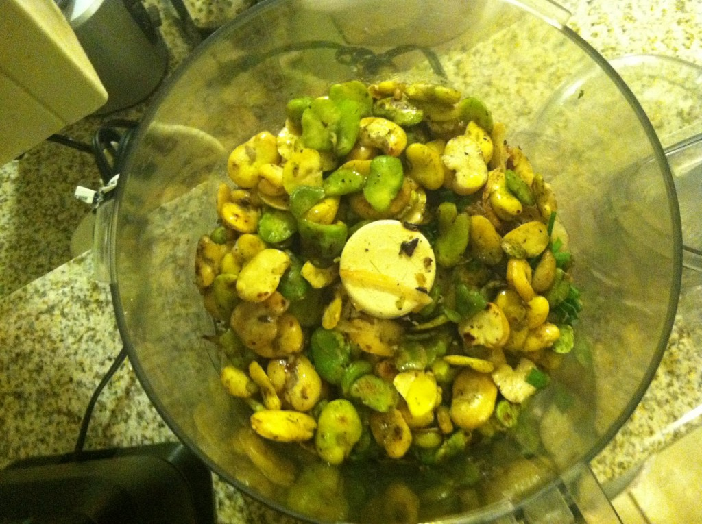 Fava Beans in Food Processor