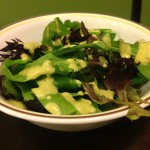 Citrus Basil Avocado Dressing on Salad