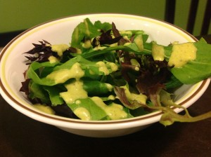Citrus Basil Avocado Salad Dressing with Walnut Oil