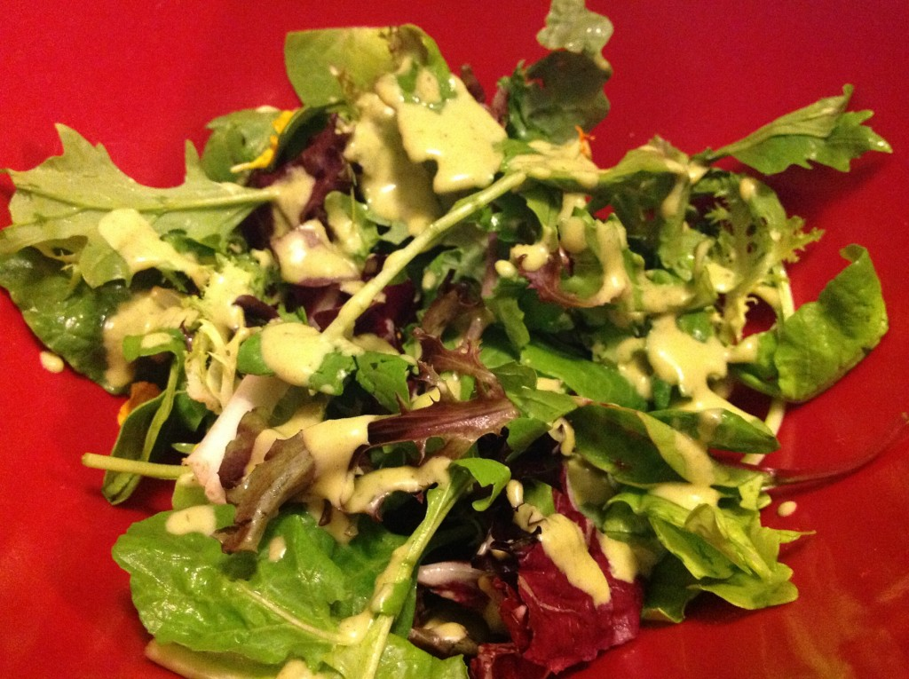 Lemon Chive Mixed Green Salad