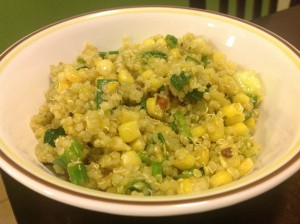 Easy Vegan Summer Quinoa Salad with Corn and Avocado