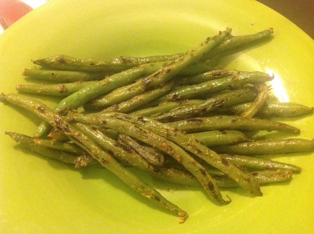 charred green beans