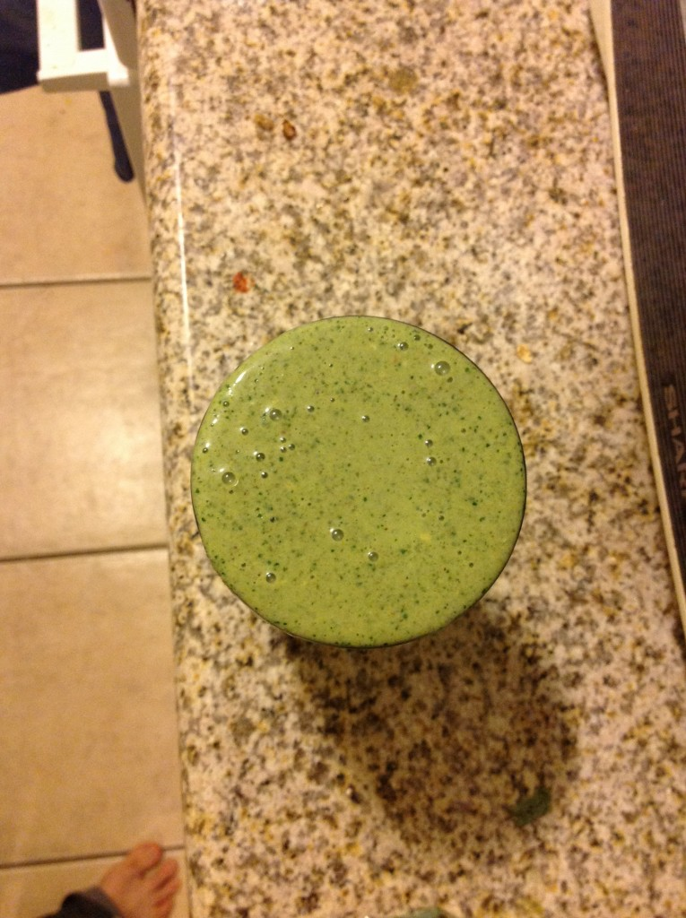 kale banana almond butter smoothie