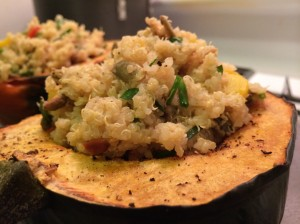 Acorn Squash Stuffed with Quinoa