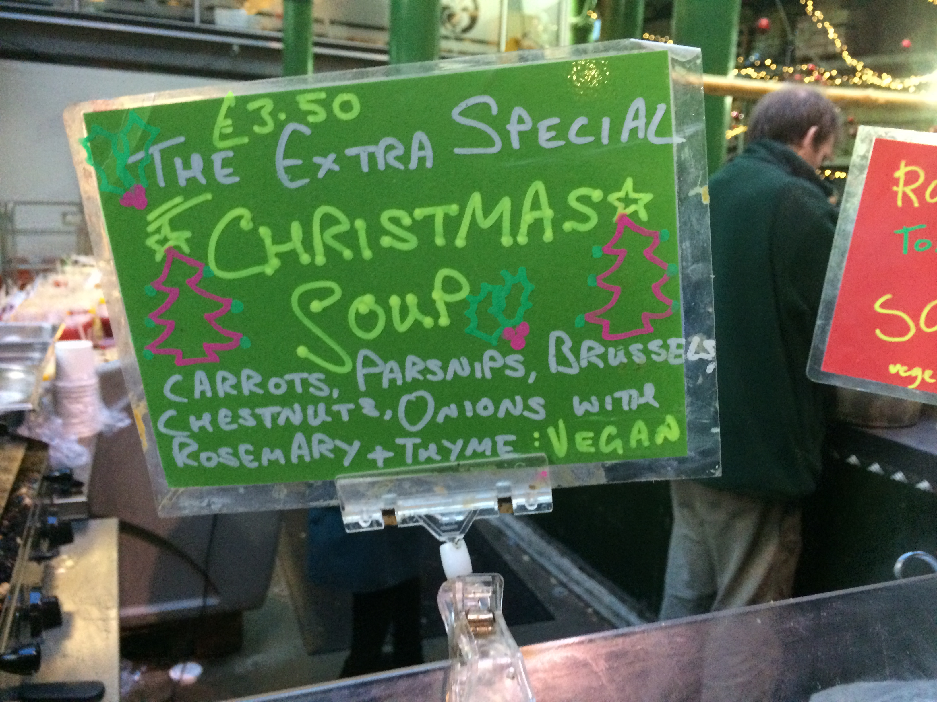Christmas Soup Borough Market